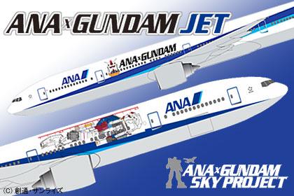 ガンプラ発売30周年記念「ANA×GUNDAM JET」就航