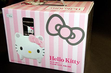 キティちゃん(HELLO KITTY)フェイスのiPodドックスピーカー「KT1-WH」