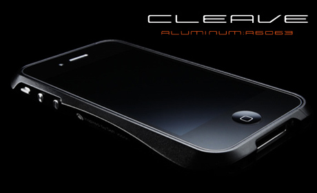 思わず見惚れるフォルムの「アルミ製iPhone4用バンパー(CLEAVE ALUMINIUM BUMPER)」