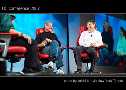 D5 conference 2007 Steve Jobs and Bill Gates