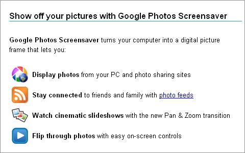 Google Photos Screensaver