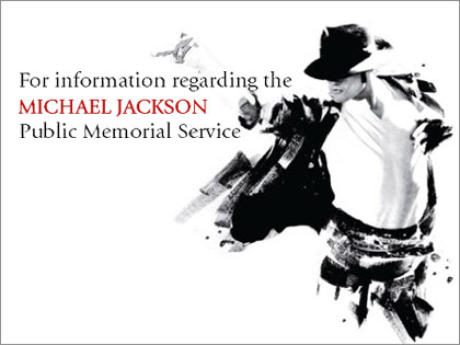 Web lottery for Michael Jackson memorial tickets!!!