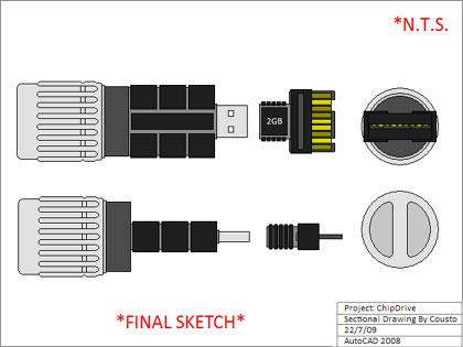 「SAVE TSCC」、キャメロンのチップ型USBメモリ(2GB)を作ろう!