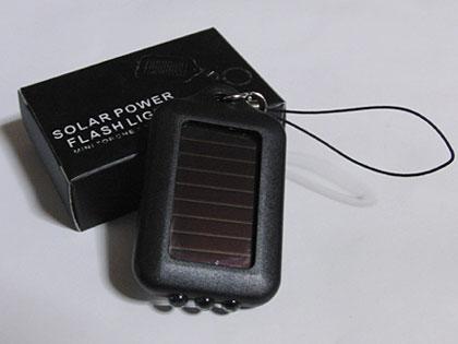 かっちょええ「ソーラーパワーLEDライト(SOLAR POWER FLASH LIGHT)」ゲット!