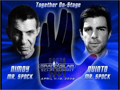 「Grand Slam XVI THE SCI-FI SUMMIT 2009」に新旧二人のスポックが登壇!