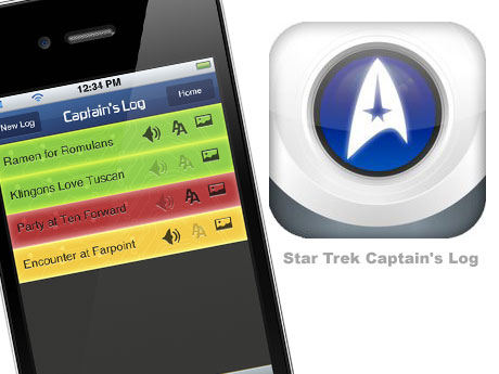 iOS4用の「STAR TREK」のゲームアプリ登場![STAR TREK CAPTAINS LOG]
