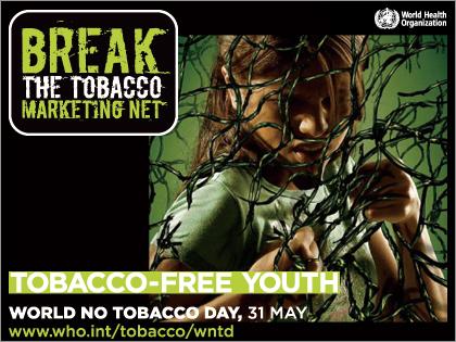 5月31日は『世界禁煙デー(World No-Tobacco Day)』、「TOBACCO-FREE YOUTH」