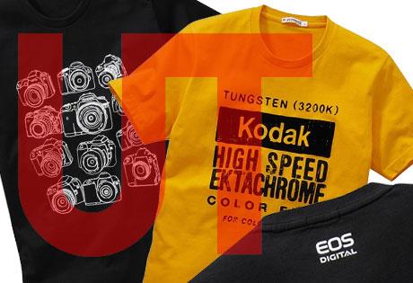 ユニクロの「企業コラボ」Tシャツに EOSやKodakが!!