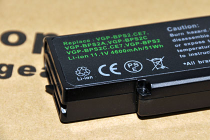SONY VAIOノートのバッテリーが寿命! 互換バッテリーを買いました