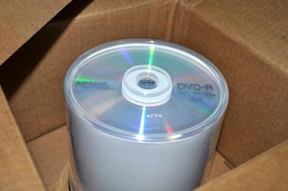 「Amazonベーシック 4.7GB 16倍速 DVD-R データ用 (100枚入)」が届いたっす