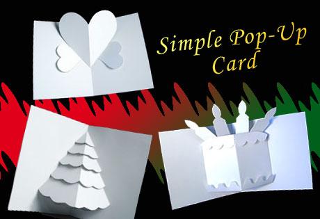 クリスマス用?簡単ポップアップカードを手作り!