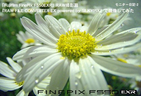 「Fujifilm FinePix F550EXR」RAW撮影篇:『RAW FILE CONVERTER EX powered by SILKYPIX』で現像してみた