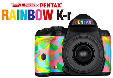 「TOWER RECORDS × PENTAX RAINBOW K-r」300台限定コラボモデル発売