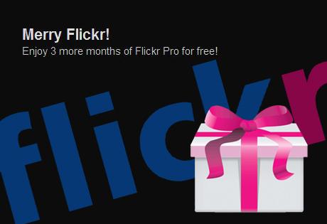 Merry Flickr! Flickrが3ヶ月分のProアカウントをプレゼント中~