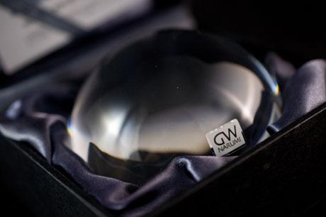 オシャレなGWグラスワークス「ルーペ ペーパーウェイト」を頂きました