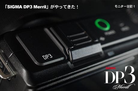 「SIGMA DP3 Merrill」がやってきた!やっぱ DP3 Merrillすげぇ(モニター日記-1)