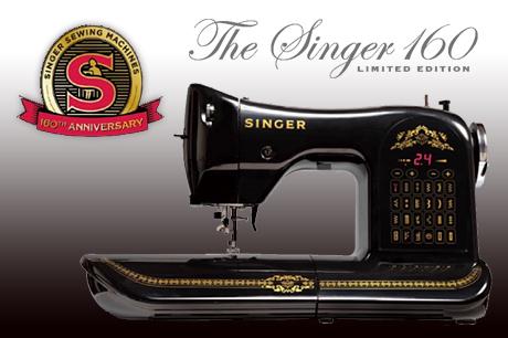 シンガーミシン160周年記念限定モデル「The Singer 160 LIMITED EDITION」がかっちょええ