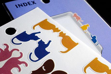 キャンドゥで猫型のインデックスシールを捕獲!(これで100円シリーズ)