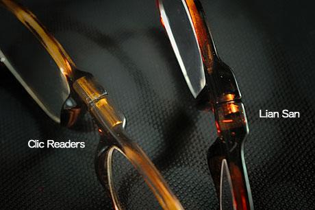 お手頃価格のマグネット老眼鏡(CSIのシドのメガネ)発見!クリックリーダーとレンサン(LianSan)の違いは?