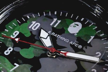 A BATHING APE!回転ベゼル付き「BAPE カモ柄腕時計」確保!!