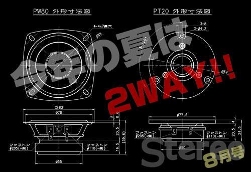 今年は2way!「Stereo 2014年8月号」の特別付録はフォステクス2ウェイスピーカーユニット